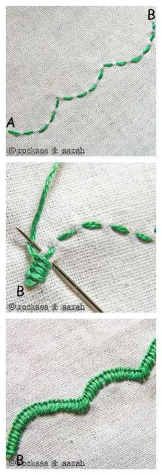 Embroidery Edge Stitch -  刺绣13-17