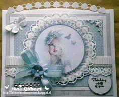 Voorbeeldkaart - ...Thinking of you..voor M@rjan - Categorie: Scrapkaarten - Hobbyjournaal uw hobby website