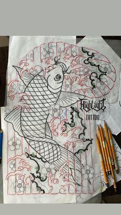Traditional Japanese Tattoos, Japanese Tattoo Art, Japanese Art, Carp Tattoo, Koi Fish Tattoo, Koi Tattoo Design, Tattoo Designs, Chrysanthemum Tattoo, Asian Tattoos