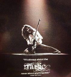 Eddie Van Halen's philosophy