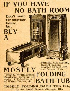 Folding tub! Retro advertising for bathrooms