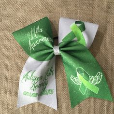 Mito Awareness bow. Memorial Bow  All ribbon colors available  Completely customizable - pinned by pin4etsy.com