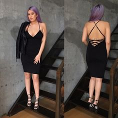 Sole Mio strappy lace up black dress Brand new retail item. Very soft jersey fabric (double layer). deep v back with lace up strappy detail. Adjustable straps. Sole mio is sold on nasty gal and lulus. Nasty Gal Dresses