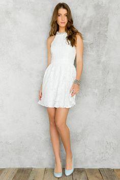 8e63840fd6a Adelyne Embellished Lace Dress francesca s. Francesca s ClothingLittle White  ...