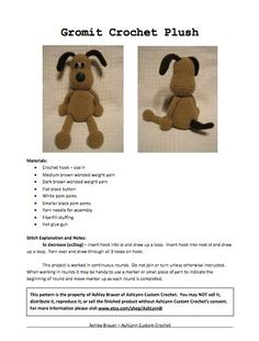 Gromit Crochet Pattern. $4.00, via Etsy.