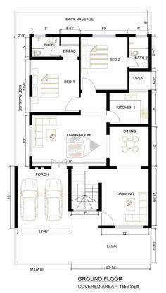 Bestie floor plan room kitchen c 40x60 House Plans, Town House Plans, Open Floor House Plans, House Plans Mansion, Home Design Floor Plans, Duplex House Plans, House Plans One Story, Family House Plans, Dream House Plans