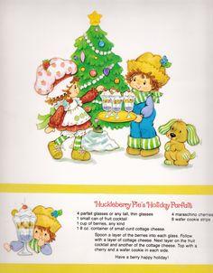 Vintage Strawberry Shortcake 1983 Sweet Treats Calendar - December 84