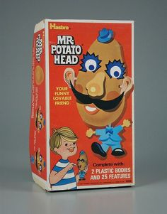 Mr Potato head was around well before Toy Story made him famous again. Here he is in the 1970's.