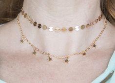 Coin choker necklace choker necklace set 2 strand necklace