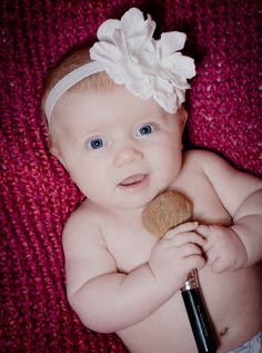 3 month moms makeup baby photo session