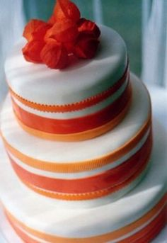 white & orange cake