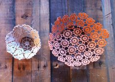 Get Rich or DIY Tryin': Lace Doily Bowls