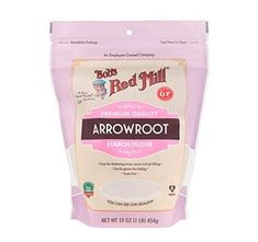Bob's Red Mill Arrowroot Starch/Flour, for sale online Raspberry Crumble Bars, Blueberry Pie Bars, Grain Free, Dairy Free, Healthy Sesame Chicken, Peanut Butter Chicken, Arrowroot Starch, Arrowroot Powder, 16 Bars
