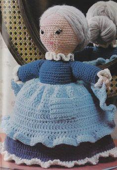 Vintage Crochet Dancing Granny Stuffed Doll Toy PDF Pattern Instant download via Etsy
