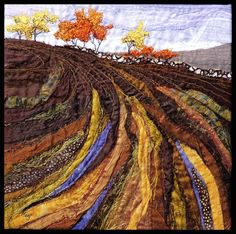 Lorraine Roy -FIELD IN AUTUMN - textile art