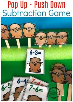 Do you need fun Subtraction Worksheets and hands-on Subtraction Centers? You are going to LOVE this awesome kindergarten math unit! Subtraction Kindergarten, Subtraction Activities, Preschool Learning, Kindergarten Activities, Teaching Math, Numeracy, Math For Kids, Fun Math, Math Crafts