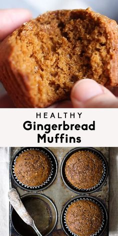 Keto Snacks Discover Healthy Gingerbread Muffins Healthy gingerbread muffins that are incredibly fluffy warm and perfect with a cup of coffee. One of my favorite muffins to enjoy during the Winter. 134 calories per muffin! Healthy Muffins, Healthy Sweets, Healthy Baking, Healthy Savoury Snacks, High Protein Muffins, Low Calorie Muffins, Low Calorie Baking, Heart Healthy Desserts, Quinoa Muffins