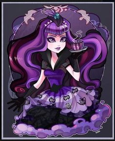 Ever After High: Princess Raven Queen tea party dress by Rotodisk at deviantart I don't understand why on earth Mattel didn't put out Hat Tastic Raven and all the rest of the featured characters. This Raven with bangs is actually worth buying!