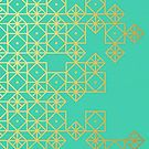 Geometric Turquoise by Cat Coquillette