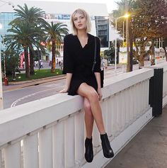 Get this look: http://lb.nu/look/8538423  More looks by Ebba Zingmark: http://lb.nu/ebbaz  Items in this look:  Samsöe Samsöe Dress, Vagabond Boots   #casual #minimal #street