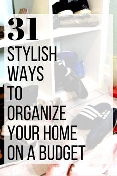 Quick ideas to organize clutter in your bedroom, bathroom, closet, office and kitchen for cheap. Storage ideas for small spaces, bedroom closet and office. #hometalk