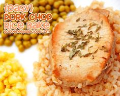Easy Pork Chop & Rice Bake. Simple and delicious!