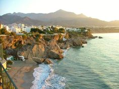 Nerja, Spain - where my sister got married and my all time favorite vacation spot.  Any shoe would work in this Spanish gem.