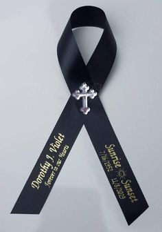 Personalized Memorial Ribbon Pins for Funeral or Celebration of Life Assembled Ribbons for Baptism or Christening Personalized Ribbon, Personalised Box, Baby Shower Pin, Stephanie Johnson, Satin Ribbons, Memorial Ornaments, Diy Ribbon, Ribbon Colors