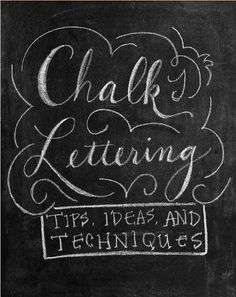 Wondering how to create chalk art? Check out this DIY Chalkboard Art Tips and Techniques guide!