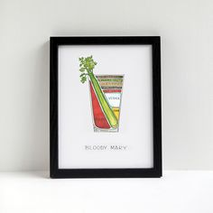Bloody Mary Cocktail Diagram print - great for above the bar station (though I'd prefer it was a Bloody Caesar!)