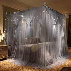 No Place Called Home analyzes and compares all bed canopy with led lights of You can easily compare and choose from the 10 best bed canopy with led lights for you. Master Bedroom Interior, Room Ideas Bedroom, Home Decor Bedroom, Modern Bedroom, Playroom Decor, Canopy Bed Curtains, Canopy Bedroom, Canopies, Bridal Room Decor