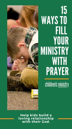Help children build a loving relationship with their God by modeling a prayerful heart and being a kid-friendly prayer guide. Kids Church, Church Ideas, Childrens Prayer, Bible Verses For Kids, Bible Object Lessons, Prayers For Children, Church Nursery, Building For Kids, Character Education