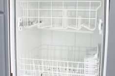 Using a few household ingredients, you can clean your dishwasher. Cleaning your dishwasher once a month will leave your dishes cleaner and more efficient.