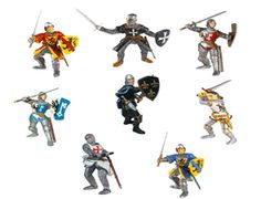 The Papo Foot Soldiers Deluxe Gift Set is a top of the range super saver for anyone looking to enhance their collection of Papo knights or medieval playset. These knights can be added to any wooden toy castle including the full range from Le Toy Van. Papo Foot Soldiers Set - 8 Knights included. Lively selection of  eight different fighting knights for ground support. Most figures can also ride the horses in the Papo Knights range if required.