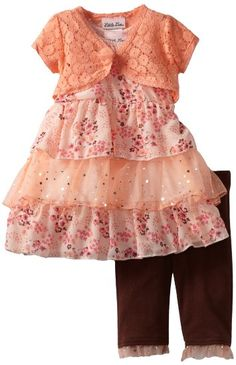 Amazon.com  Little Lass Baby-Girls Infant 3 Piece Skimp with Layers  55d83124f