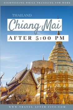 Chiang Mai, Thailand After pm There are many things to do in if you are traveling to for work. If you are looking for what to do in Chiang Mai at night, go out and listen to live music and a variety of music styles. You can go dancing, or enjoy the. Thailand Travel Guide, Visit Thailand, Vietnam Travel, Asia Travel, Amazing Destinations, Travel Destinations, Khao Lak, Chiang Mai Thailand, Travel Route