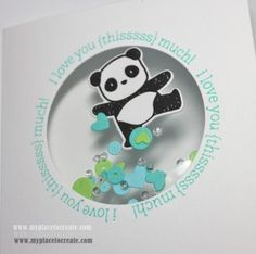 pandamonium shaker card - Mama Elephant