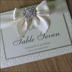 Luxury Crystal Embellishment Table Names by WeddingParaphernalia