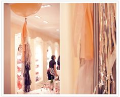 ribbons hanging from a large balloon - love