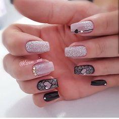 Que nota de 0 a 10 meninas? Classy Nails, Cute Nails, Nailart, Valentine Nail Art, Trendy Nail Art, Nail Brushes, Best Acrylic Nails, Toe Nail Designs, Square Nails