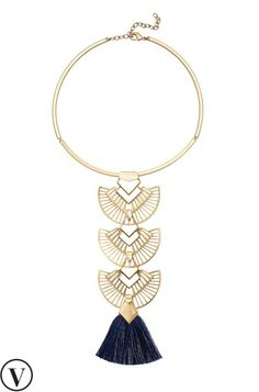 Our beautiful gold tassel necklace is inspired by the elaborate Grand Bazaar architecture. Discover an array of tassel necklaces & more from Stella & Dot.