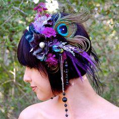 faerie head dress | DARK FAERIE Feather Headdress by FeatherPixie on Etsy
