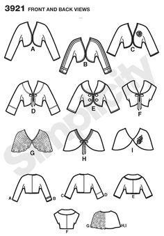 Womens Boleros and Capelets Sewing Pattern 3921 Simplicity