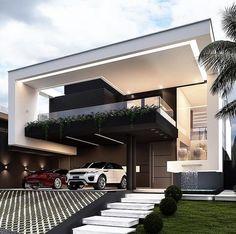 Best Modern House Design, Modern Exterior House Designs, Bungalow House Design, Modern Bungalow, Dream House Exterior, Modern Design, Architecture Design, Modern Architecture House, Security Architecture