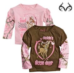 #RealtreePink #camo Infant Toddler Girls Layer Sleeve Top $8.88