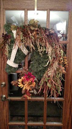 Fall horse head wreath