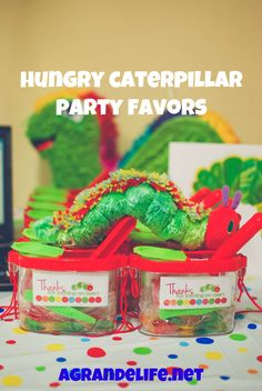 A Very Hungry Caterpillar Birthday Party Favors