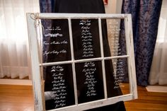 Wedding Reception Seating Chart Display Old Windows 51 Best Ideas Reception Seating Chart, Table Seating Chart, Wedding Reception Seating, Booth Seating, Seating Chart Wedding, Wedding Reception Party Favors, Seating Arrangement Wedding, Window Seat Storage, Restaurant Seating