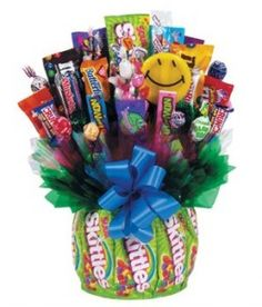 Skittles And Candy Gift Basket Birthday Gifts Ideas Craft