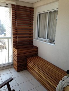 good example of A/C hide + privacy wall, and add to it bench